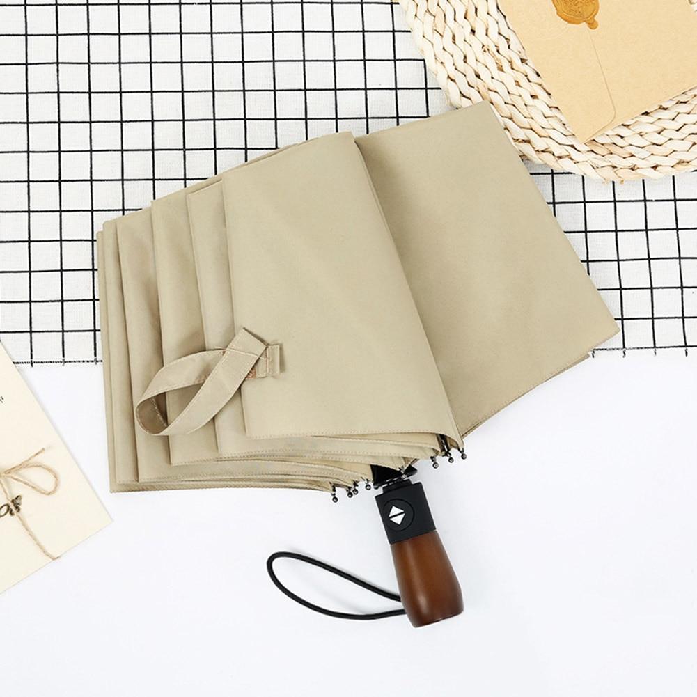 Складной зонт дождь наружное деревянной ручкой Винтаж Портативный ветрозащитный автоматический зонт YS-BUY