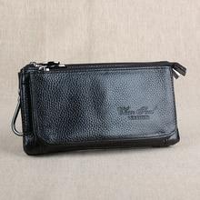 Bolso con cinturón multifuncional de cuero auténtico, riñonera Vintage de cuero Natural, riñonera de viaje