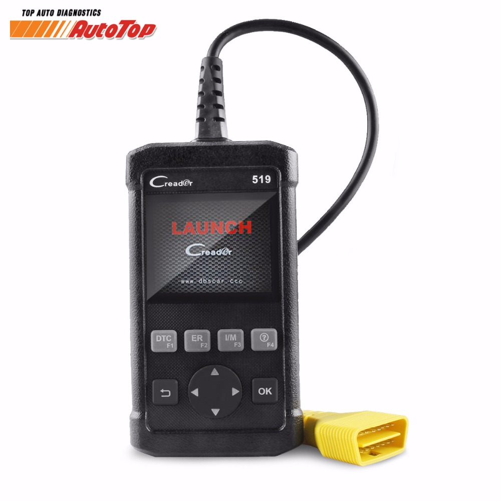 Top Sale ODB2 Scanner LAUNCH Creader 519 CR519 Diagnostic Tool Supports All OBD II EOBD Protocols OBD2 Autocanner Free Shipping 100% original launch creader 519 odb obd2 scanner for obd2 can eobd jobd cars cr519 diagnostic tool free gift brake fluid tester