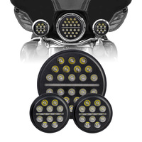 7 Inch Daymaker Harley LED Headlight with 4.5 Inch Fog Lamps For Harley Davidson Motorcycle