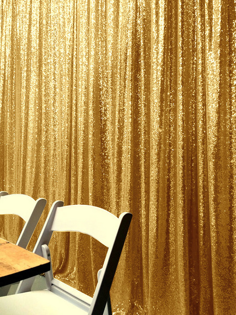 ShinyBeauty 20FT X 10FT Gold Luxury Sequin Drapes Big Size Shimmer Sequin  Curtain/Backdrop/