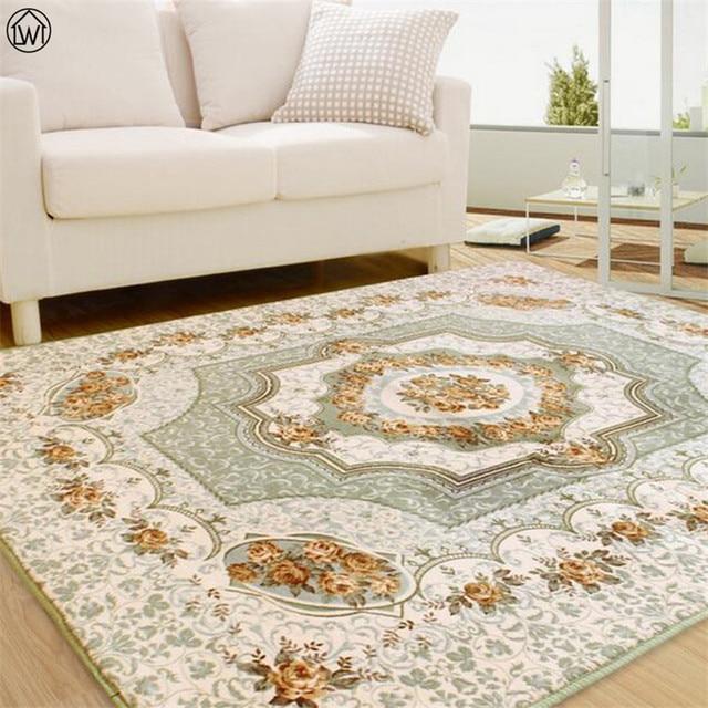 80200 Cm Grosse Blume Schlafzimmer Teppich Wohnzimmer Kinder Kriechende Matte Europischen Jacquard Korallen Fleece