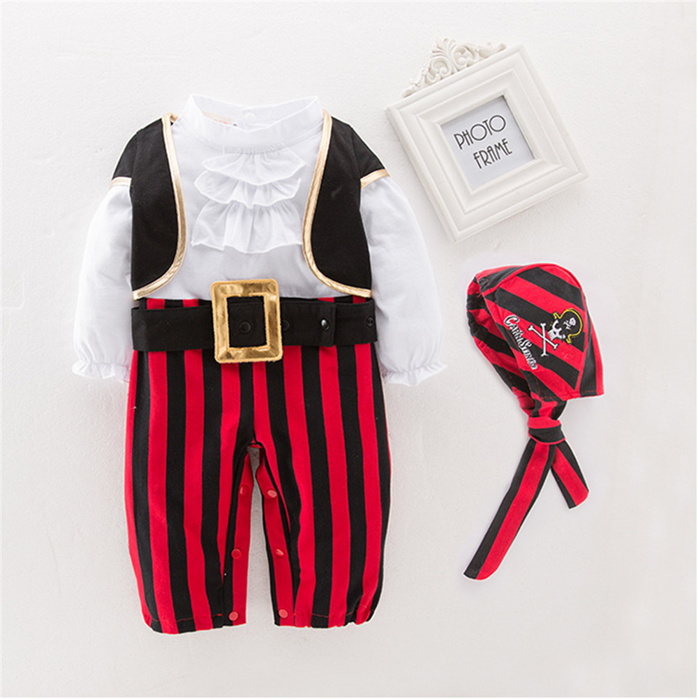 Pirates of The Caribbean Cosplay Costumes for Baby Boy Clothes Pirate Captain for  Halloween purim Costumes for Kid Bodysuit