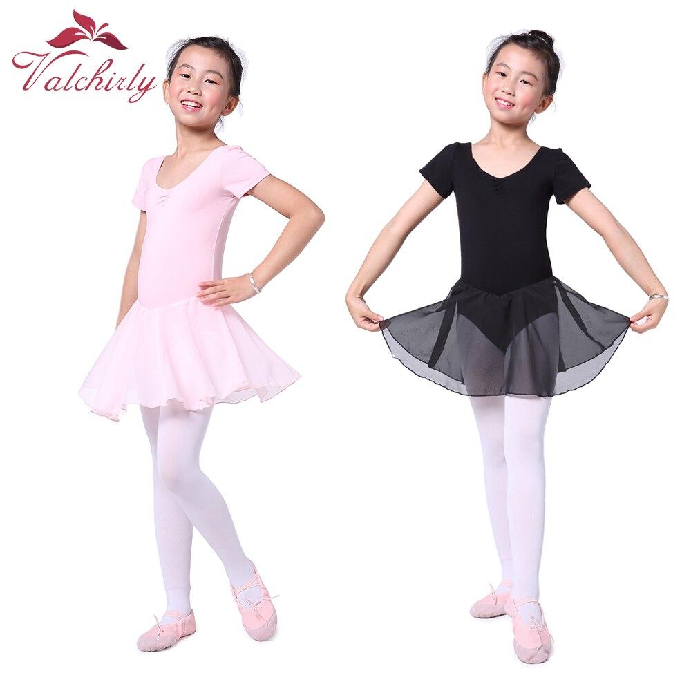 Chiffon Girl Kids Ballet Tutu Dress Gymnastics Leotard Ballerina Dance Costume