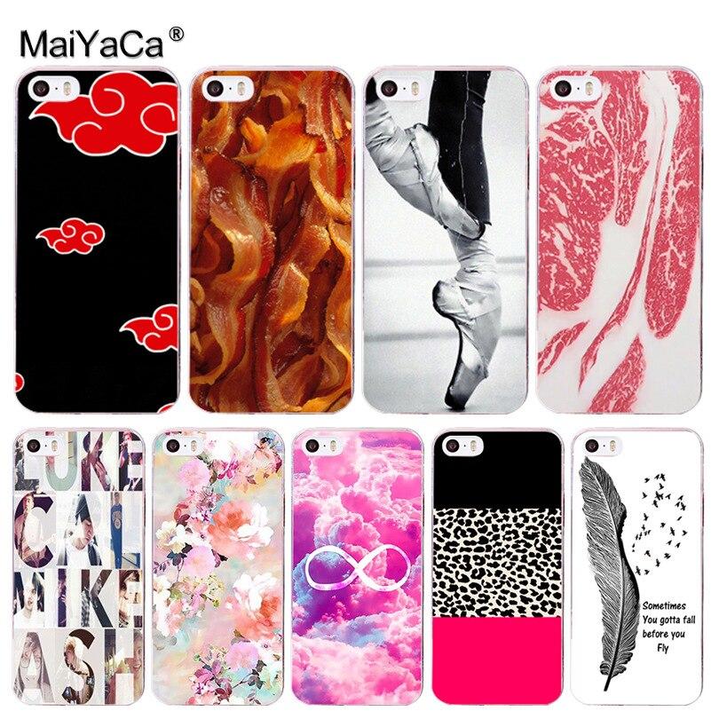 Maiyaca стопы Хит продаж дизайн моды кожа тонкий ПК cell чехол для iPhone 8 7 6 6 S Plus X 10 5 5S SE 5C 4 4S Coque В виде ракушки