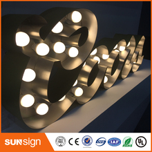 Stainless steel channel lighted letters signs