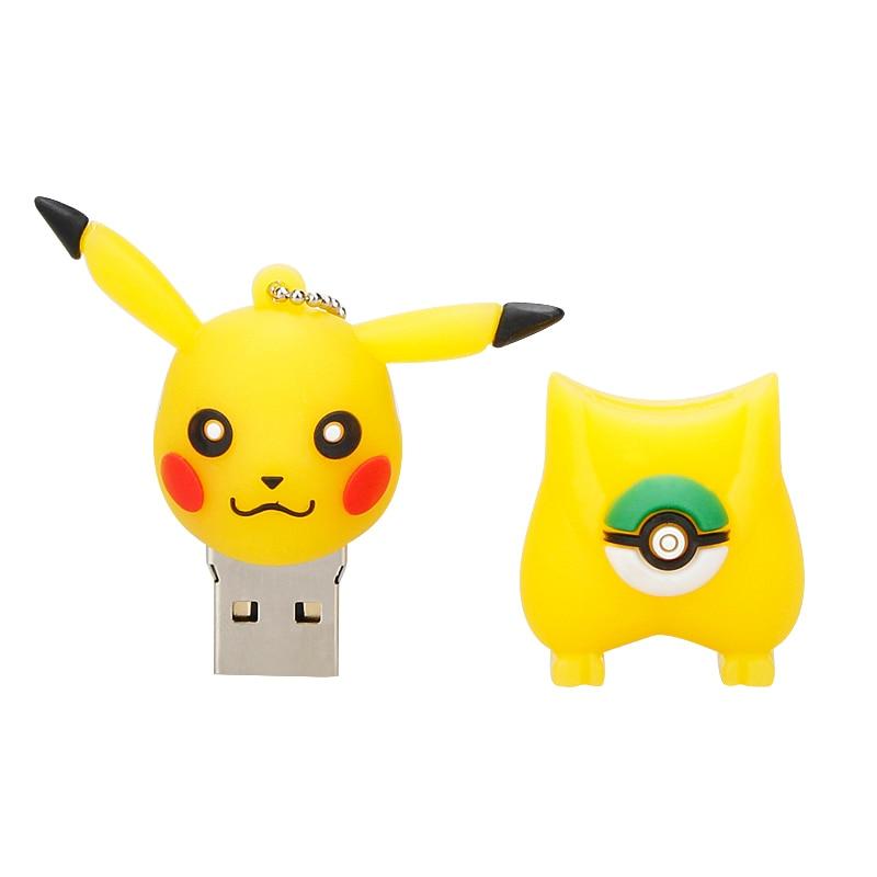 Image 3 - Pen Drive Pokemon Pikachu 4G 8GB USB Flash Drives 16GB 32GB 64GB Pendrive 128GB Cartoon Animal Cute Gift Usb Stick Free Shipping-in USB Flash Drives from Computer & Office