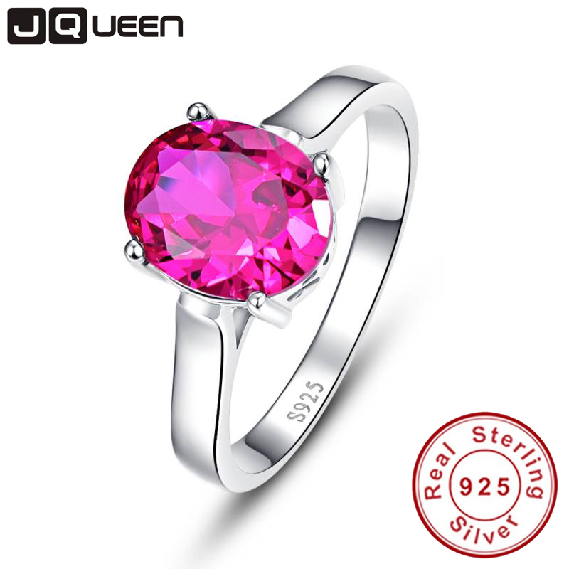 Fine Jewelry Wedding Rings Unique Big Oval Ruby 925 Sterling Silver Ring Factory Price For Women 2017 New Anillo Style Ring
