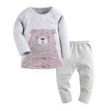 Pijamas kids 2016 Baby Cartoon Bear Infantil Boy Pajamas Set Girls Set Baby toddler Sleep Wear Clothing baby boy clothes