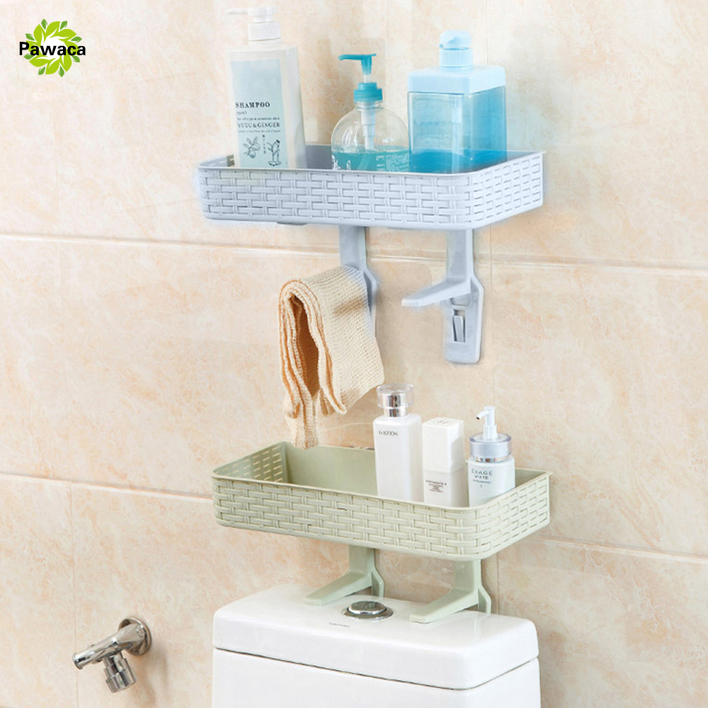 Plastic removable bath shelf wall mounted cosmetic holder storage - Plastic Shower Corner Shelf Organizer Holder Bath Storage Holders Bathroom Shleves Accessory Space Saving Wall Shelf