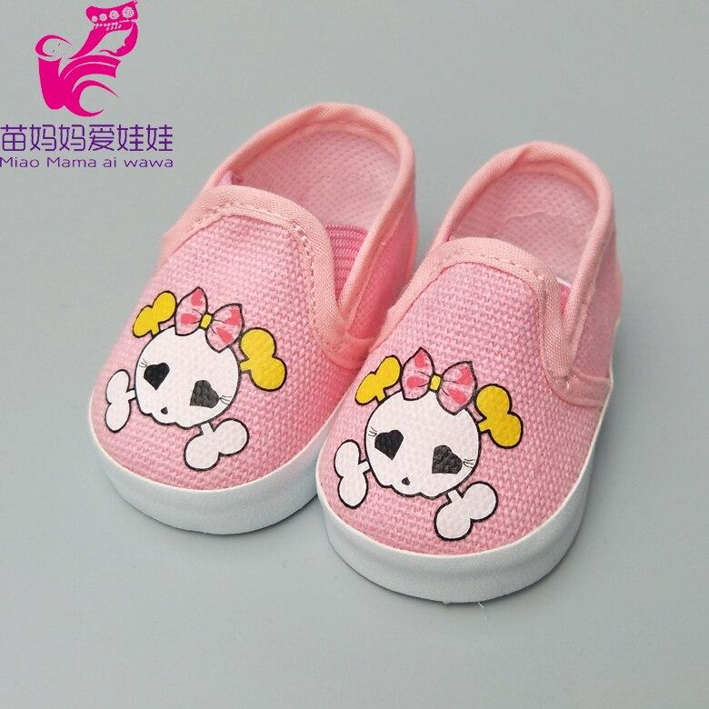Casual stövlar skor för 43cm zapf baby född docka 18