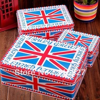 Free Shipping England Style 3pcs Set Big Size Metal Tin Case Sweety Candy Can Cookie Box