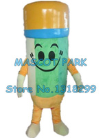 pencil mascot costume yellow hat pencil custom adult size cartoon character cosply carnival costume 3243