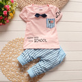 2016 new summer Baby Boys Clothing set Gentleman children suits 2 pcs short sleeve toddler baby clothes newborn
