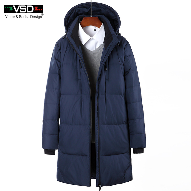 VSD 2017 Winter Down Jacket Men's Fashion Thick Warm Casual Zipper ...
