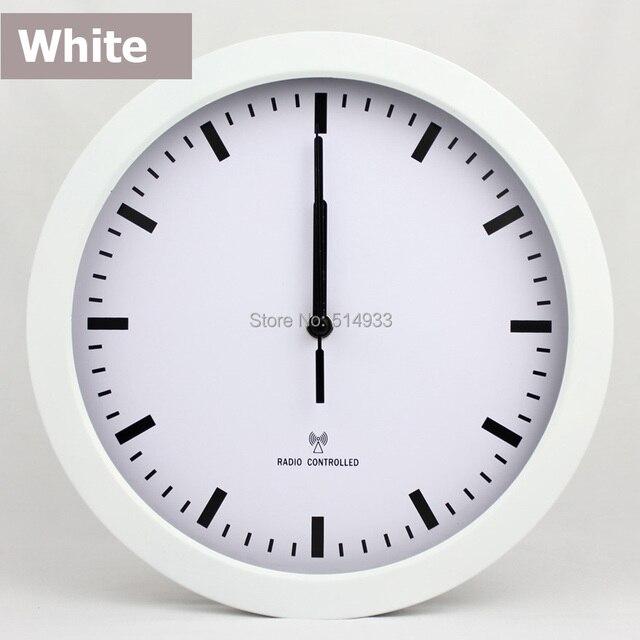 DCF 10 \'\'Runde trennt quarz moderne kunststoff funk wanduhr, Weiß ...