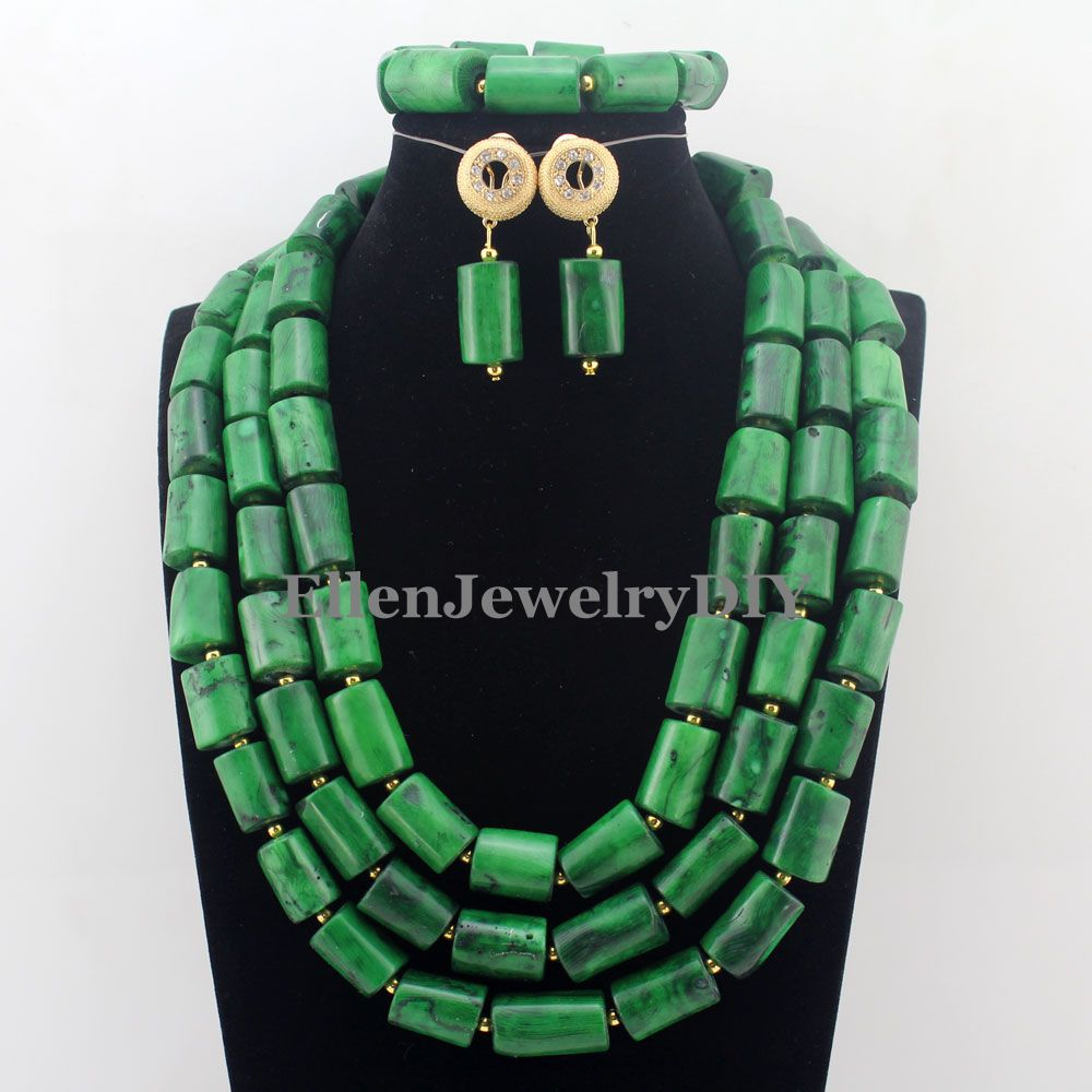 Traditional Indian Bridal Jewelry Sets Nigerian Wedding Coral Beads