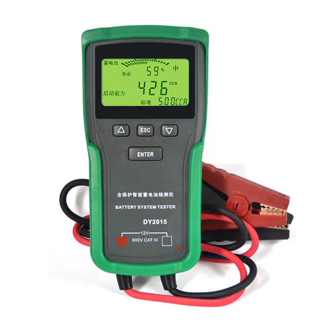 DY2015 12V Car Battery System Tester Capacity Maximum Electronic Load Charge Test+English Manual Conductance Resistance