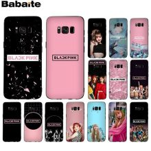 Babaite BLACKPINK LISA Kpop Ultra Thin Cartoon Pattern Phone Case For GALAXY s5 s6 edge  s7 edge s8 plus s9 plus