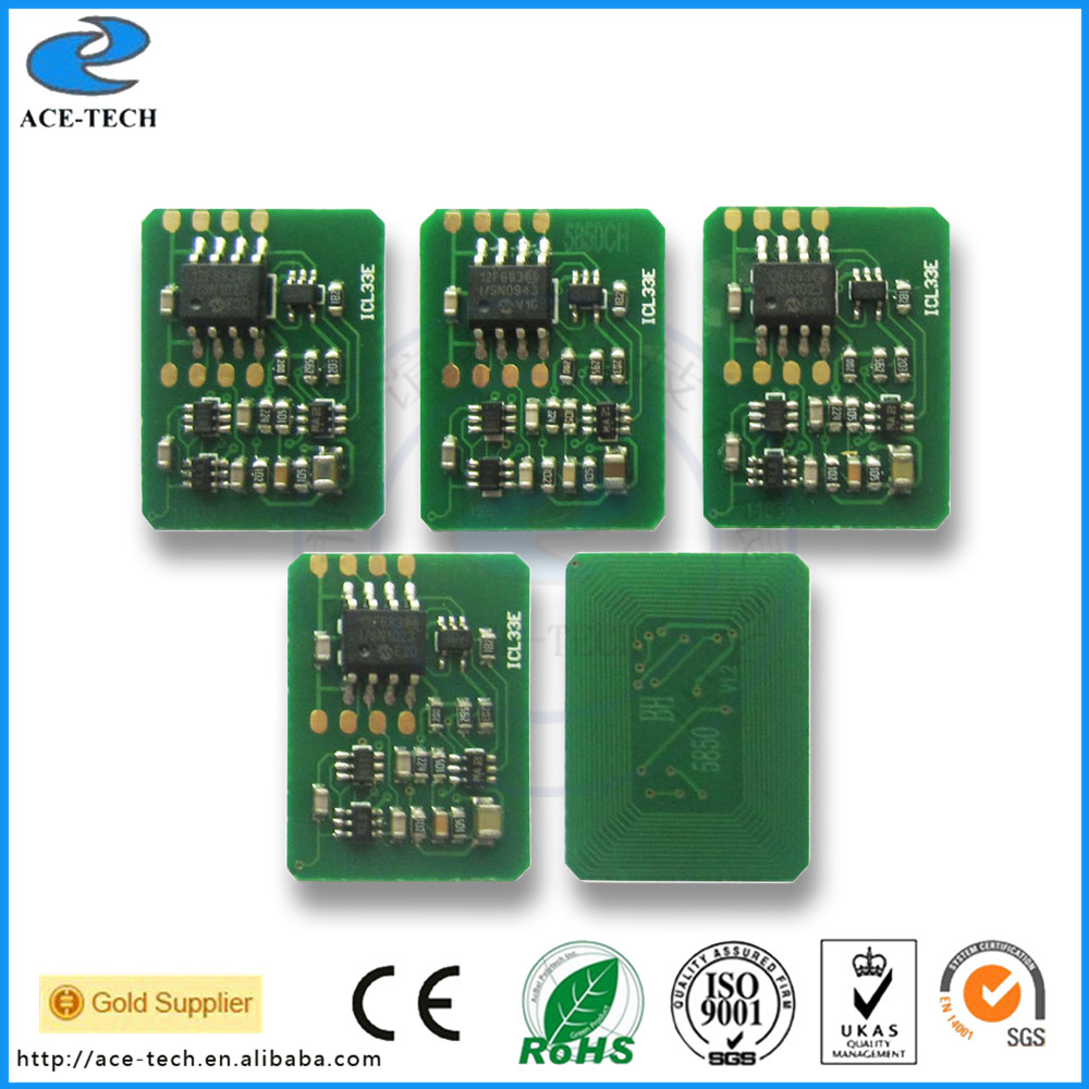 5 sätze toner chip für OKI C5850 C5950 MC560 laserdrucker patrone resetter...