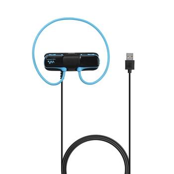 Cargador de cuna negro para Sony Walkman NWZ-W273S y auriculares Bluetooth