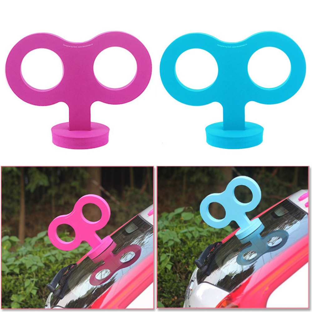 Car styling Unique Design Lovely Big Key Shape Car Roof Rabbit Ear Stickers Universal Car Decorative Styling 3D Funny Sticker