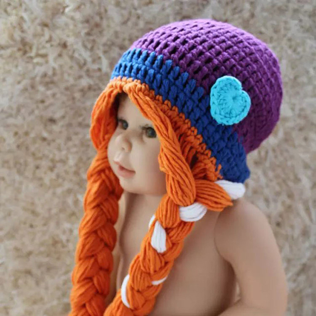 New Cute Baby Hat Winter Crochet Custom Handmade Knitted Infant Toddler  Baby Hat Newborn Photography Prop Baby Girls Hats 70f4a77ae5d