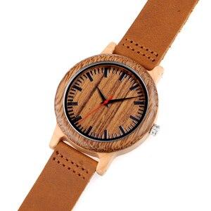 Image 5 - BOBO BIRD WM14 Wenge Wooden Watch for Men Cool Maple Wood Quartz Watches in Gift Box