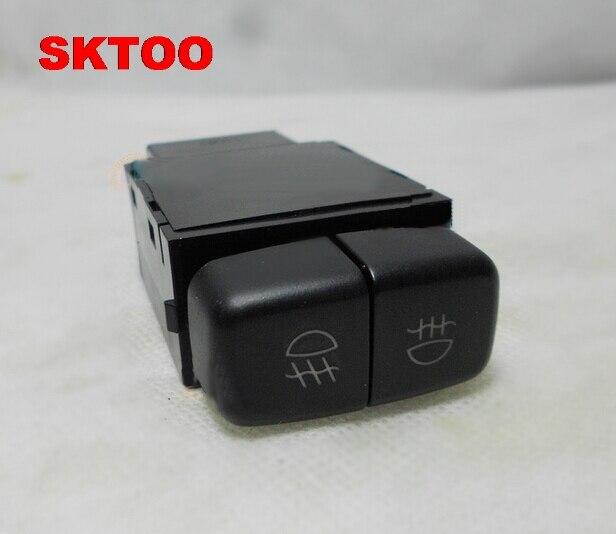 Sktoo автомобиль спереди и сзади туман выключатель света лампы для Mitsubishi Pajero V73 V77 87 V93 97 Montero 3 4 III IV IO Lancer grandis