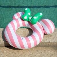 Cute Brown Bear Cony Rabbit Cartoon Baby Inflatable Swimming Ring Float Pool Children's Swim Seat Raft Circle Summer Water Toys