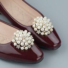 2 uds de perlas de lujo Vintage extraíble Clips de encanto del zapato hebilla zapatos fiesta boda noticias