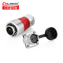 Cnlinko DH 20 2 دبوس موصل مقاوم للماء محول نوع IP65/IP67 كابل كهربائي المغناطيسي موصل السيارات الطبية ذكر التوصيل تيار مستمر التيار المتناوب