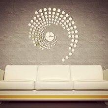 Круглая комбинация акриловая Зеркальная Наклейка, 3D reloj de pared watch horloge акриловая Зеркальная Наклейка и Виниловые фрески
