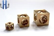 Brass Manual Lathe Processing Square Ball EDC Decoration Tradesman Spirit Tools
