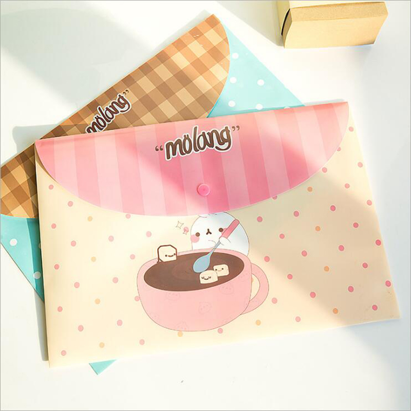 1 Piece PVC A4 Waterproof File Bag Portable Outdoor Travel Folder Oxford Cloth Office And Study Stationery