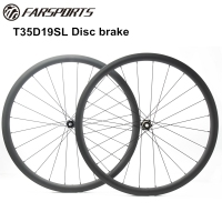 T35D19SL Farsports 700C disc brake wheelsets for cyclocross and gravel riding 24H 24H spoke holes central lock 12mm thru axle