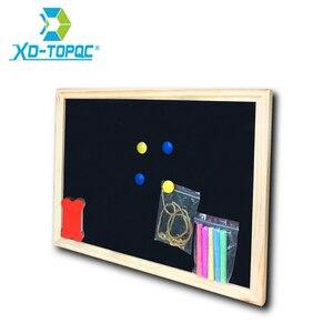 Image 1 - 30*40 センチメートル黒板木製黒板木製フレームチョークボードドライイレースボードステッカー磁気黒板オフィスサプライヤー送料無料