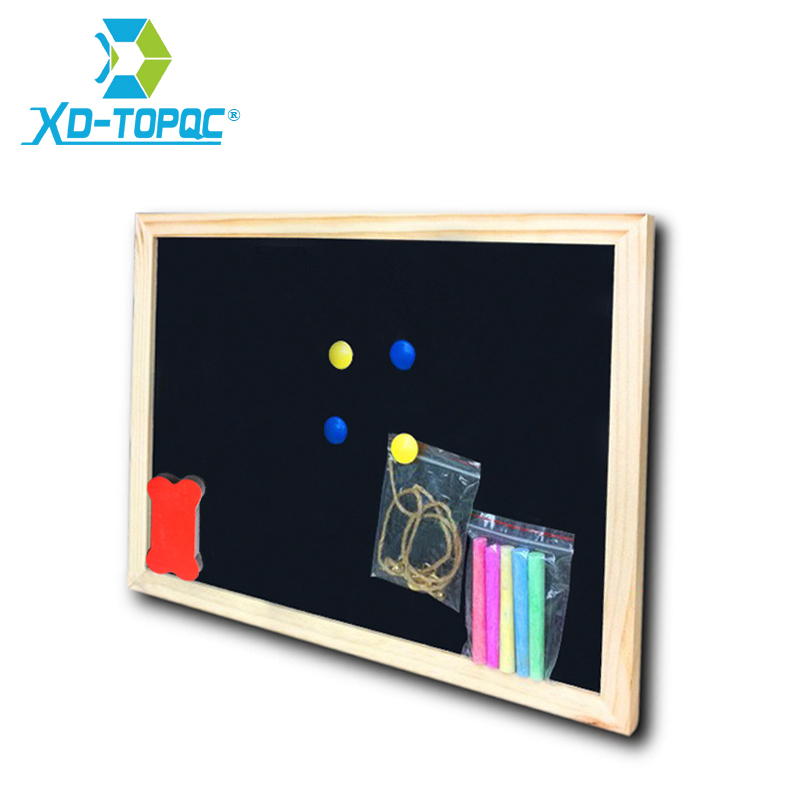 Free Shipping 2018 Wholesale And Retail Wood Frame Chalkboard Dry Erase Magnetic Black Board Office Supplier 25*35cm