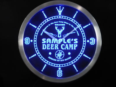 nctu-tm Name Personalized Custom Deer Camp Big Racks Bar Neon Sign LED Clock Wholesale Dropshipping