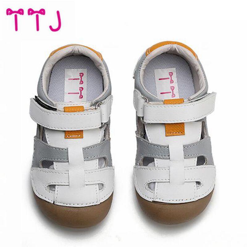 TTJ Boy Sandals 2018 New Childrens Beach Shoes Korean Non-slip Soft Sandals Middle Child Summer Kids Shoes
