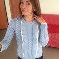 6165 французский романтический элегантный сладкий рябить вырез сетка свитер основной свитер женский лотоса украшения длинные рукава свитера