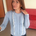 6165 romântico francês elegante plissado doce recorte de malha camisola camisola básica do sexo feminino decoração de lótus de mangas compridas blusas