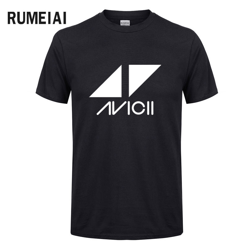 2019 Avicii DJ Logo Summer   T  -  shirt   Men Cotton Short Sleeve Print Fans Club Casual Hip Hop   T     Shirt   Homme KPOP Men Tshirt Tops