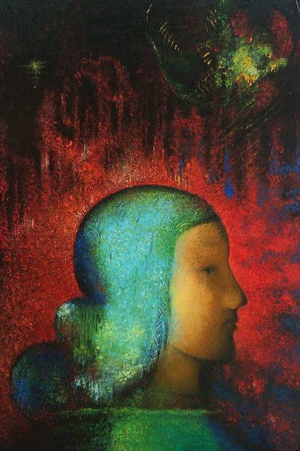 Impressionist Figure Wall Art Oil Painting Joan of Arc by Odilon Redon Home Decor Painting on Canvas Handpainted No Framed