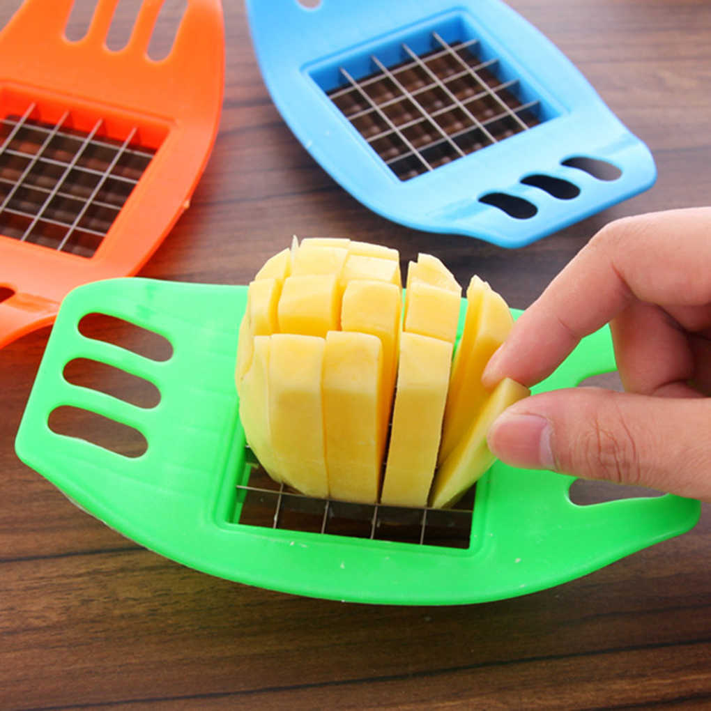 18cm*10.5cm Stainless Steel Vegetable Potato Slicer Cutter Cutting Slicers Cut Fries Device Random Color