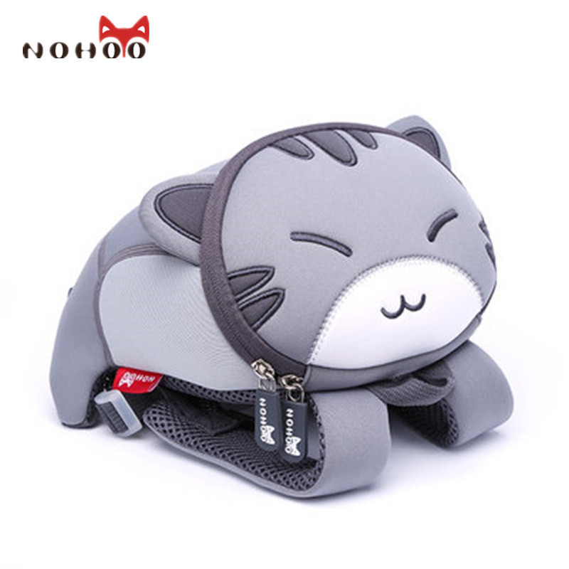 NOHOO Waterproof Cute Cat Animals Baby Backpack Kids Toddler School Bags for Girls Children School Bags Kids Kindergarten Bag