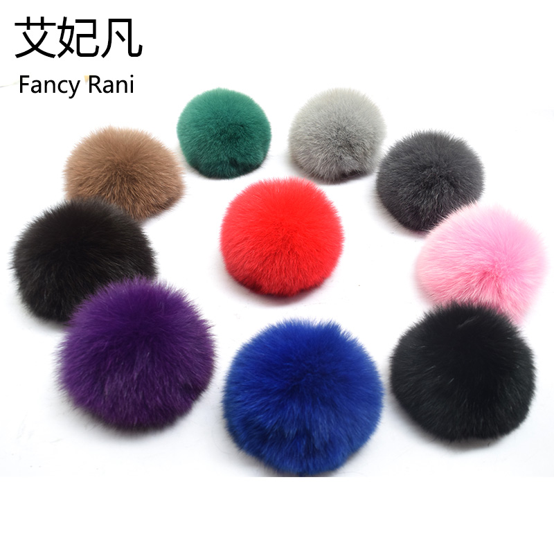 Big 13CM Real Fox Fur Solid Pompom Fur Pom Poms Ball for Hats & Caps Accessories Genuine Fox Fur Pompon Ball For Shoes Hats Bags alphbet pompom fashion for car 12cm fluffy real fox fur pompon key ring keychain for bag accessory