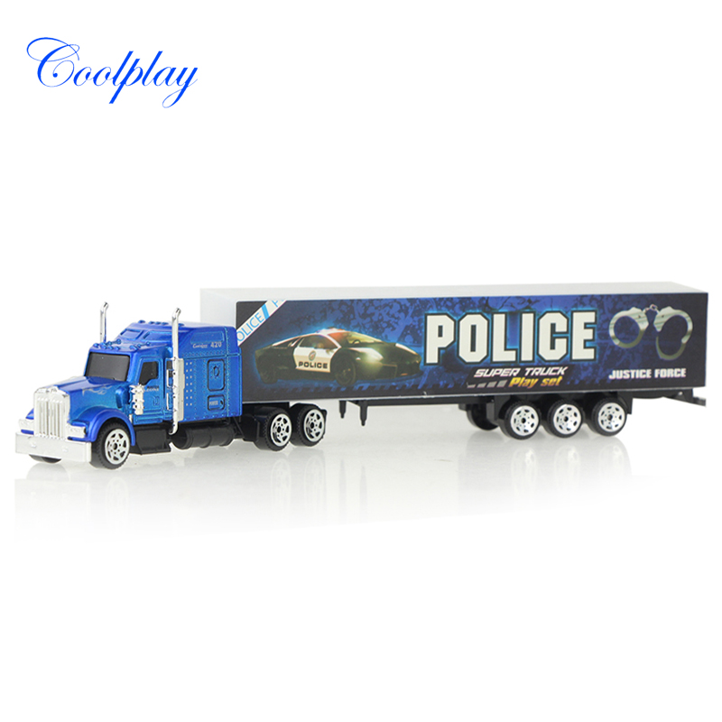 Mini Alloy Car Model Container Truck Diecast Toy Vehicles Disassembled Model Truck Car For Children Educational Toys )