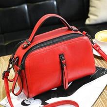 BARHEE 2017 Women Tote Bag Fashion Women Handbag pu Leather Small Flap Doctor Messenger Bags Saddle Solid Black Red Pink Green