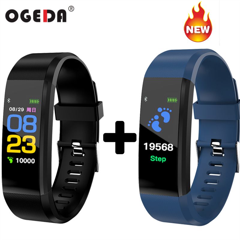 Mode Intelligent Montre de sport 115 PLUS Surveillance de la fréquence Cardiaque Étanche IP67 smart bracelet fitness tracker step counter bracelet